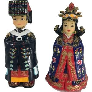 Korean Traditional Folk Figurines King Queen